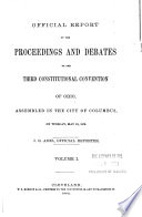 Official Report of the Proceedings and Debates of the Third Constitutional Convention of Ohio