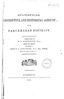 Statistical Descriptive and Historical Account of the Farukhabad District