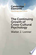 The Continuing Growth of Cross Cultural Psychology Book