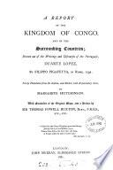 A Report of the Kingdom of Congo Book PDF