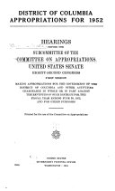 Hearings Before The Subcommittee Of The Committee On Appropriations United States Senate