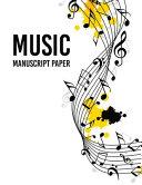 Music Notebook Wide Staff Manuscript
