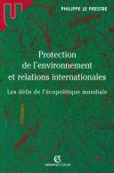 Pdf Protection de l'environnement et relations internationales Telecharger
