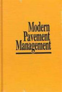 Modern Pavement Management