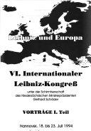 Leibniz und Europa Book