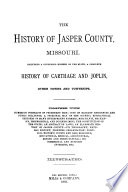 The History of Jasper County, Missouri
