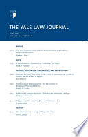 Yale Law Journal Volume 124 Number 8 June 2015