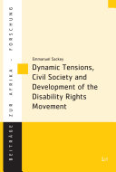 Dynamic Tensions  Civil Society and Development of the Disability Rights Movement