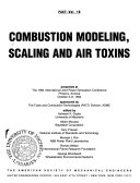 Combustion Modeling  Scaling and Air Toxins