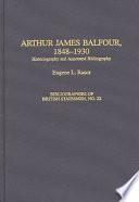 Arthur James Balfour 1848 1930