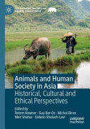 Animals and Human Society in Asia Book