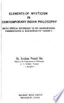 Elements of Mysticism in Contemporary Indian Philosophy