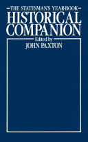 The Statesman   s Year Book Historical Companion