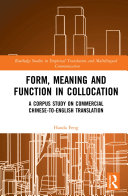 Form  Meaning and Function in Collocation