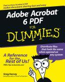 Adobe Acrobat 6 PDF For Dummies [Pdf/ePub] eBook