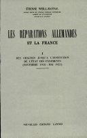 Pdf Les Reparations Allemandes Et la France Telecharger
