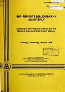 EPA Reports Bibliography Quarterly