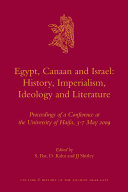 Egypt  Canaan and Israel  History  Imperialism  Ideology and Literature