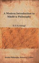A Modern Introduction to Madhva Philosophy
