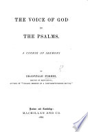 The Voice of God in the Psalms  A Course of Sermons