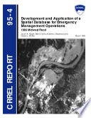 Development And Application Of A Spatial Database For Emergency Management Operations