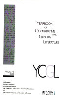 Yearbook Of Comparative And General Literature