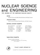 Nuclear Science And Engineering Book PDF