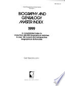 Biography and Genealogy Master Index