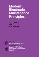 Modern Electronic Maintenance Principles Pdf