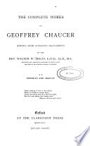 The Complete Works Of Geoffrey Chaucer Boethius And Troilus