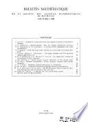 Bulletin mathématique de la Société des sciences mathématiques de la République socialiste de Roumanie