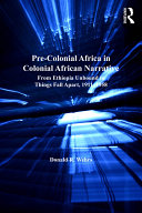 Pre-Colonial Africa in Colonial African Narratives Pdf/ePub eBook