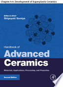 Handbook of Advanced Ceramics Book
