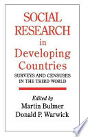 Social Research in Developing Countries Book