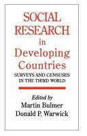 Social Research in Developing Countries