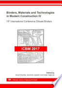 Binders  Materials and Technologies in Modern Construction IV