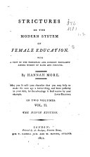Strictures on the Modern System of Female Education ebook