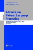 Advances in Natural Language Processing [Pdf/ePub] eBook