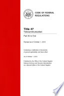 Title 47 Telecommunication Parts 80 End  Revised as of October 1  2013
