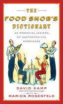The Food Snob's Dictionary