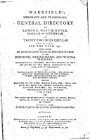 Wakefield s Merchant and Tradesman s General Directory for London