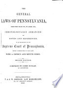 The General Laws Of Pennsylvania From The Year 1700 To April 1849