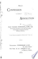 Confession and Absolution Book