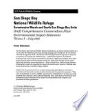 San Diego Bay National Wildlife Refuge  N W R    Sweetwater Marsh and South San Diego Bay Units  Comprehensive Conservation Plan