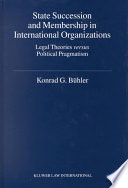State Succession and Membership in International Organizations