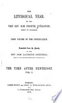 The Liturgical Year The Time After Pentecost V 1 1879