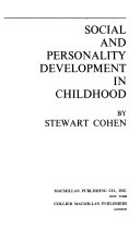 Social and Personality Development in Childhood Book