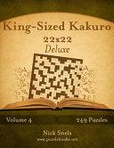 King sized Kakuro 22x22