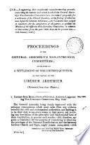 Proceedings of the     non intrusion committees  in relation to a settlement of the Church question  on the footing of the liber arbitrium