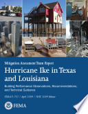 Mitigation Assessment Team Report Hurricane Ike In Texas And Louisiana Building Performance Observations Recommendations And Technical Guidance